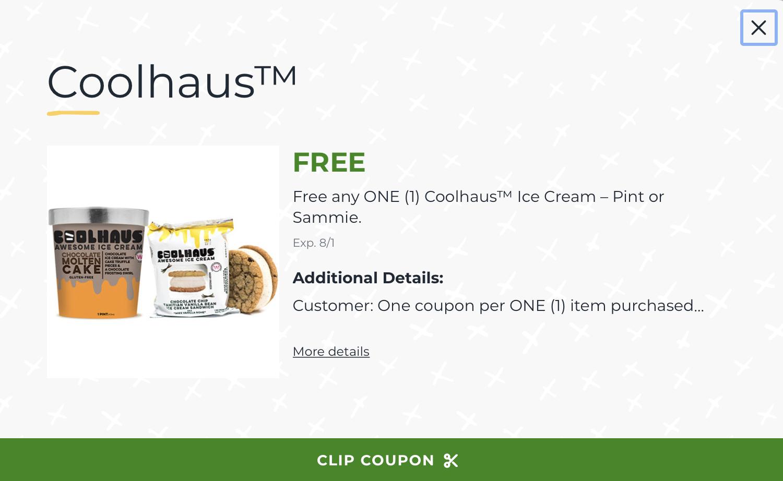 Free Coolhaus Ice Cream At Publix