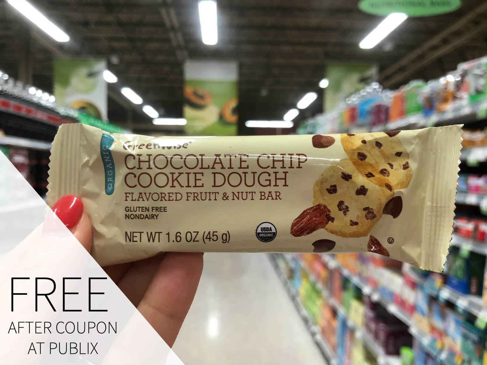 FREE GreenWise Protein Bar on I Heart Publix 1