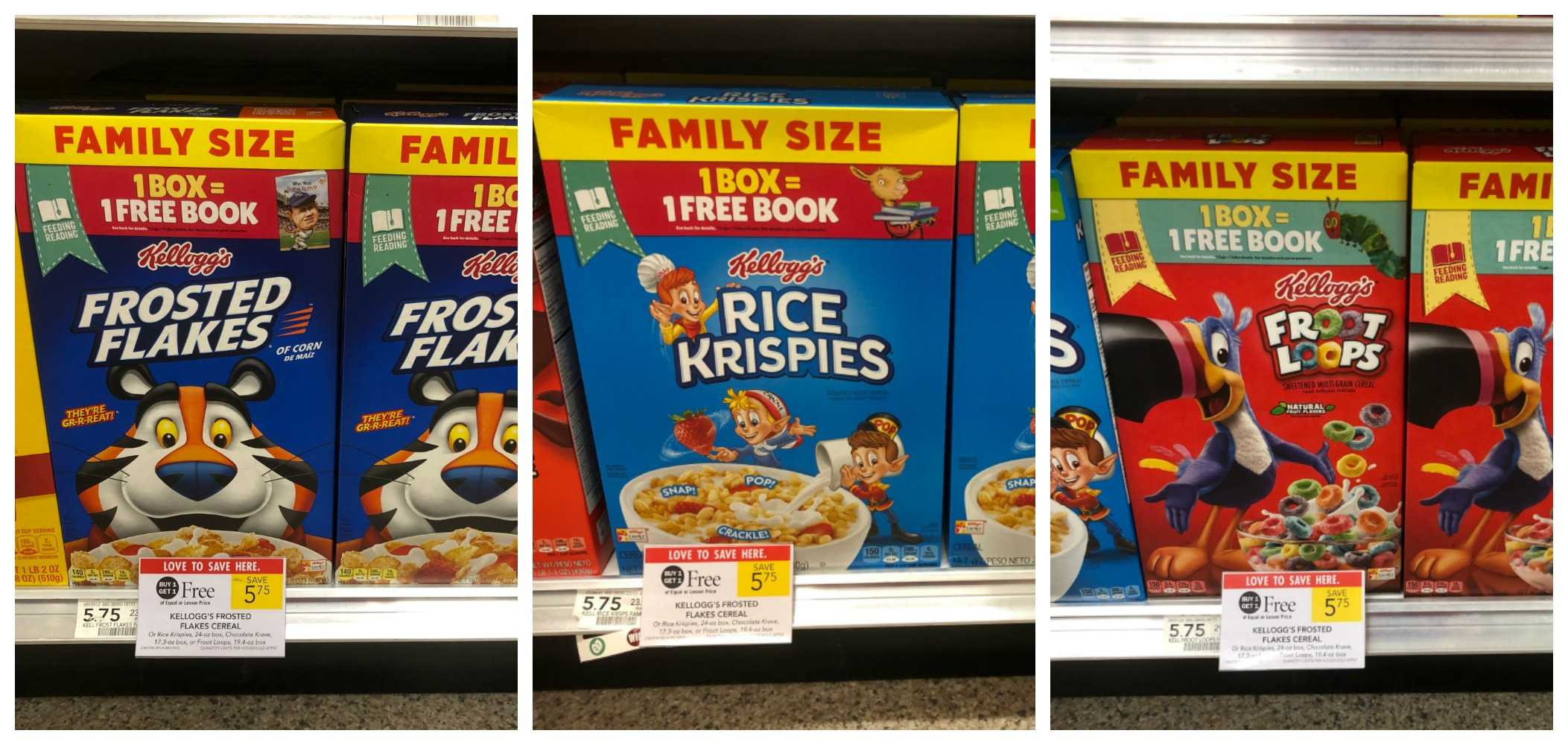 Get A Great Deal On Delicious Kellogg's Cereals & Get A Free Book With The Feeding Reading Program! on I Heart Publix
