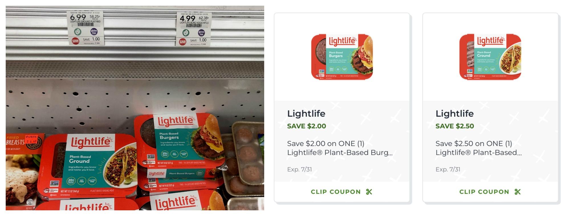 Lightlife Meatless Veggie Burger Just $2.99 (Plant-Based Ground Just $4.49) on I Heart Publix