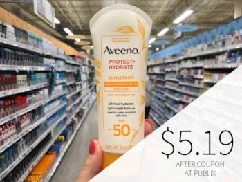 New Aveeno Coupon Makes Sunscreen Only $3.49 At Publix (Regular Price $9.49) on I Heart Publix