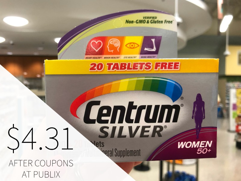 Centrum Silver As Low AS $4.31 With Coupons on I Heart Publix