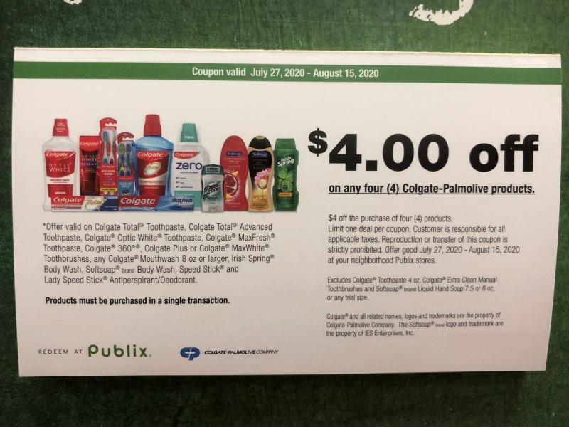 New Colgate-Palmolive Publix Coupon Valid Through 7/18 on I Heart Publix