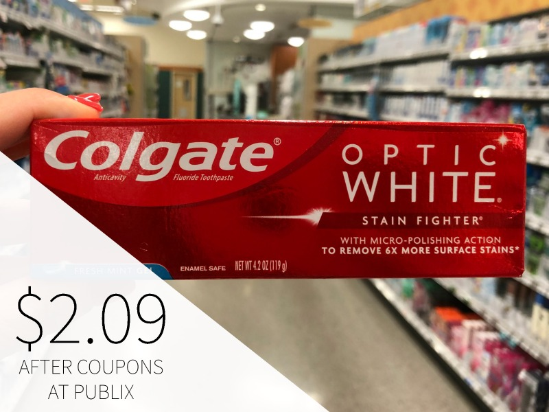 New Colgate Publix Coupon - Optic White Toothpaste As Low As $2.09 on I Heart Publix 1