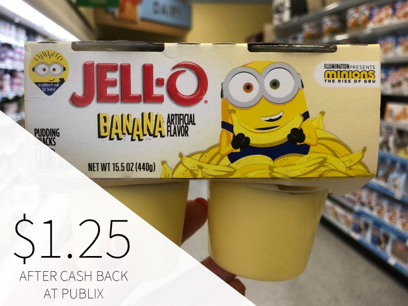 Jell-O Minions or Trolls Pudding or Gelatin Snacks, 4 pk Just $1.25 on I Heart Publix 1