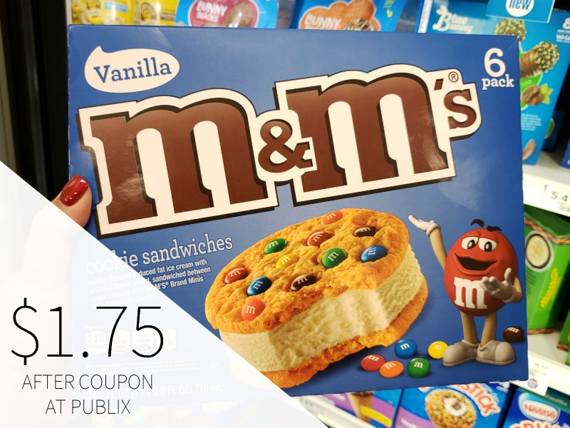 M&M's Ice Cream Cookie Sandwiches Just $1.75 At Publix on I Heart Publix 1