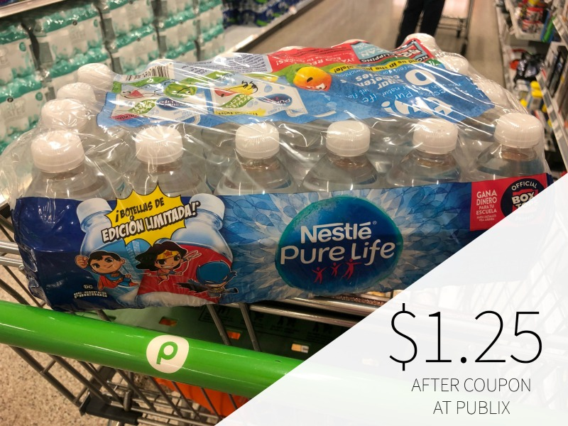 Nestle Pure Life Purified Water 24-Pack Only $1.25 At Publix on I Heart Publix 1