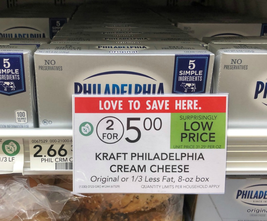 Kraft Philadelphia Cream Cheese Brick Just $2 At Publix on I Heart Publix