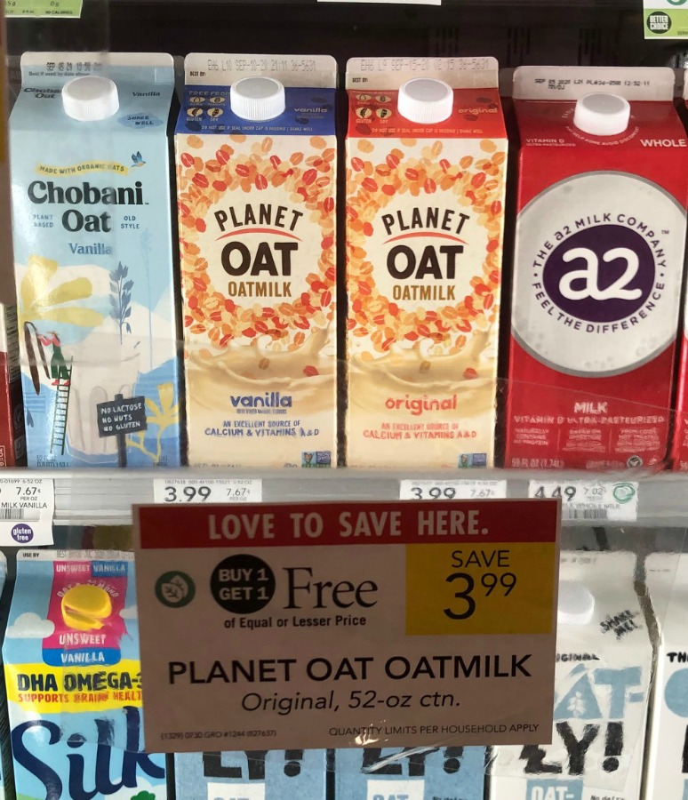 Planet Oat Oatmilk FREE At Publix on I Heart Publix 3