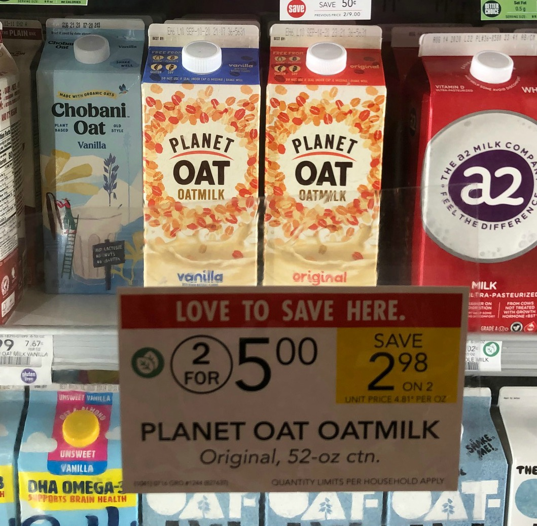 Planet Oat Oatmilk FREE At Publix on I Heart Publix