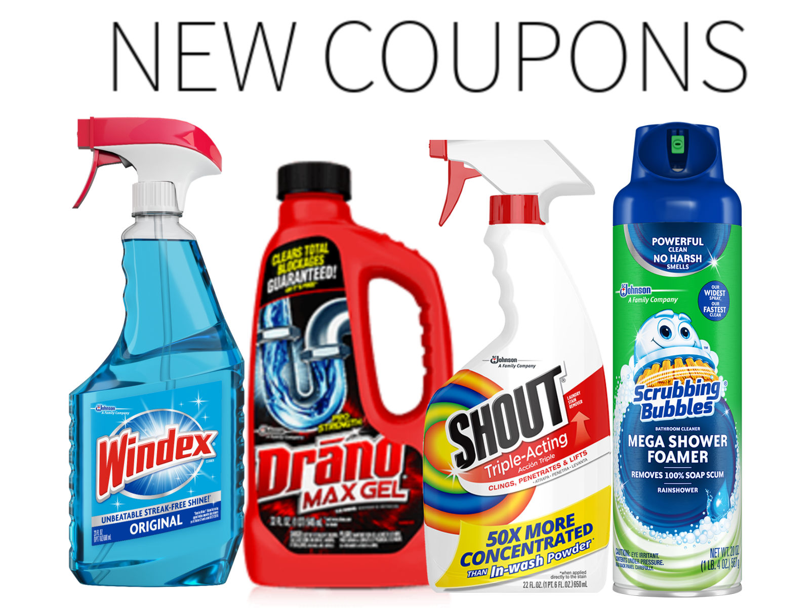 New Household Coupons - Shout, Drano, Scrubbing Bubbles, Windex & More! on I Heart Publix