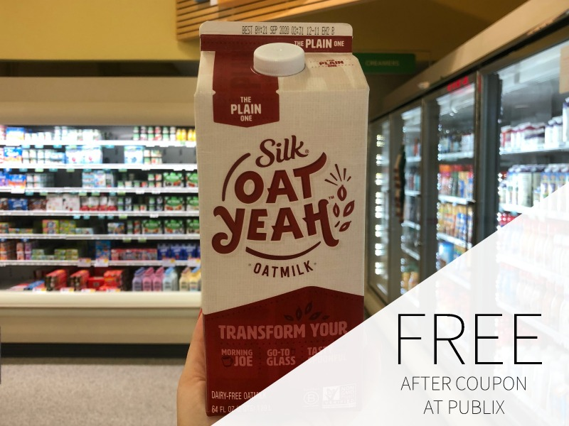 Can't Miss Deal On Silk Oat Yeah Oatmilk This Week At Publix - FREE After Coupon! on I Heart Publix 1