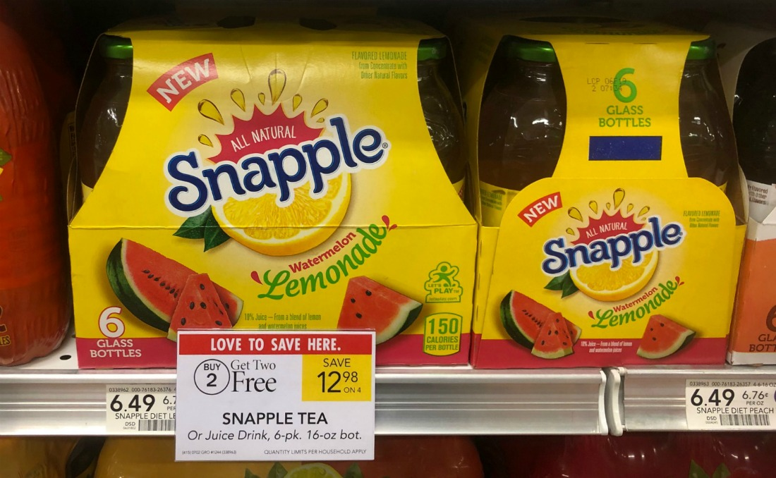 Snapple Lemonade 6-pk - Just $3.83 At Publix on I Heart Publix
