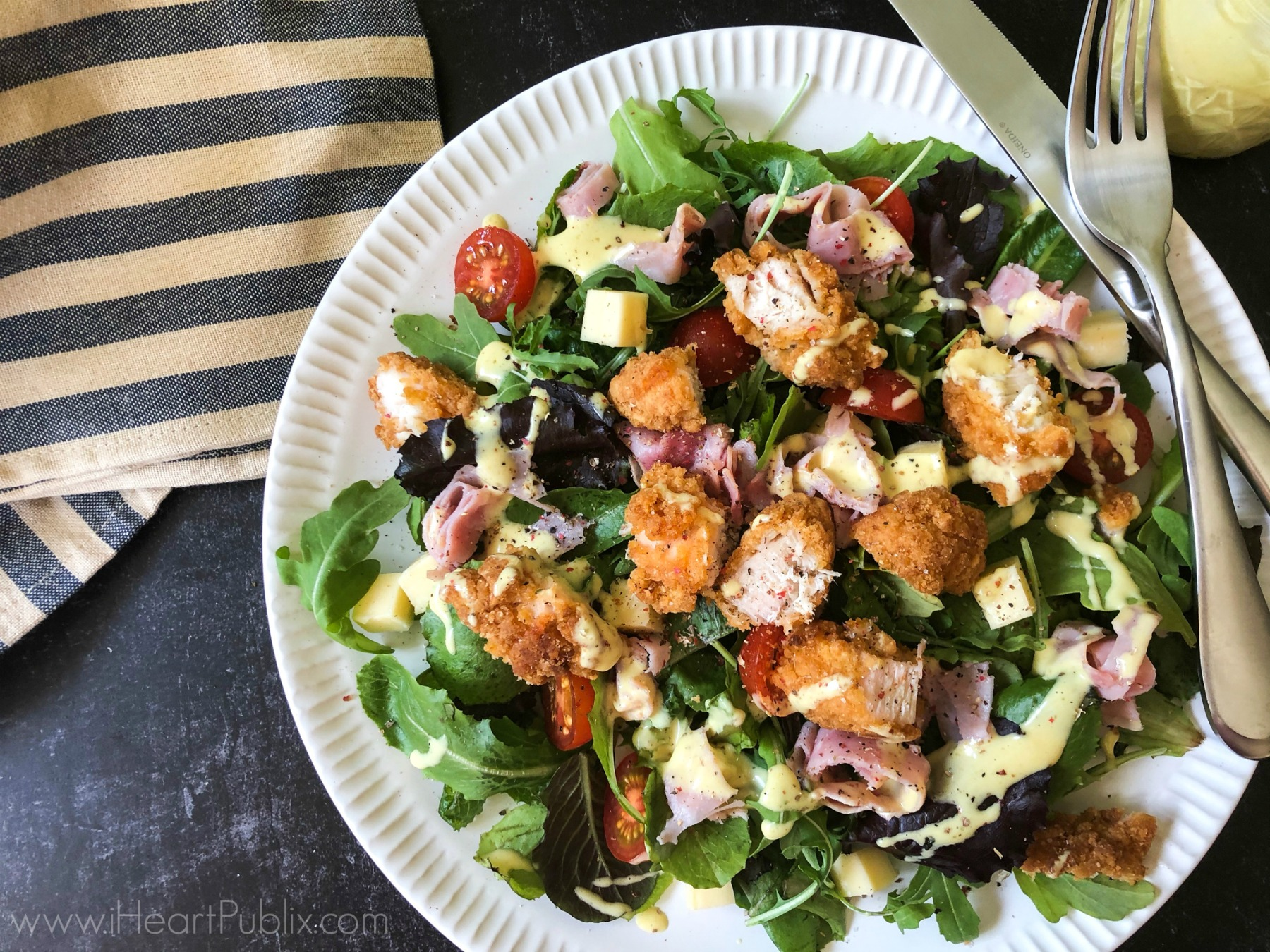 Delicious Tyson® Products For Breakfast, Lunch, Dinner & Beyond - Try My Chicken Cordon Bleu Salad on I Heart Publix