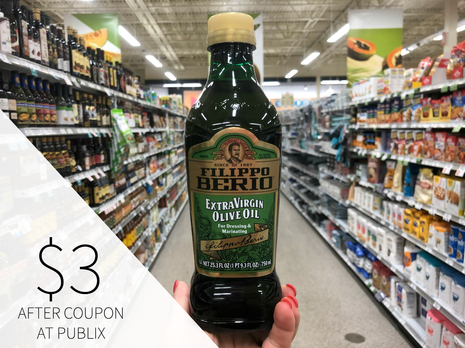 Filippo Berio Olive Oil Only $3 At Publix on I Heart Publix