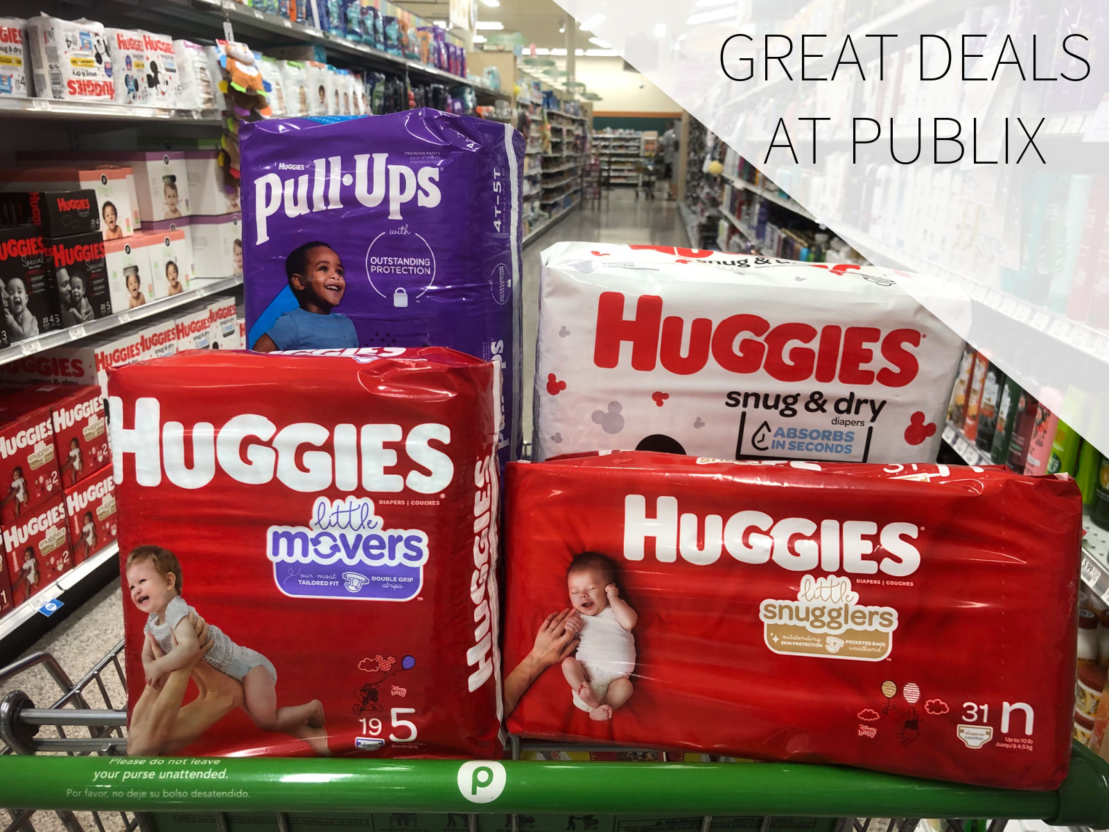 Fantastic Deals On Huggies Diapers, Pull-Ups & GoodNites This Week At Publix on I Heart Publix