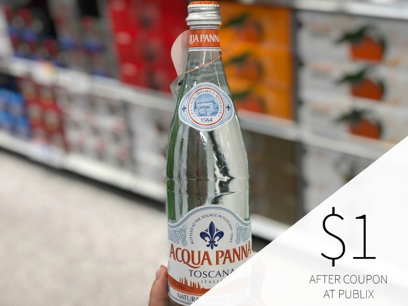 New Acqua Panna Natural Spring Water Coupon For Publix Sale (Plus Cheap Harmless Harvest & Perrier) on I Heart Publix 1