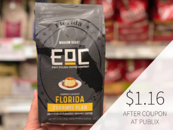 High Value EOC Flavors of America Coffee Coupon on I Heart Publix 1
