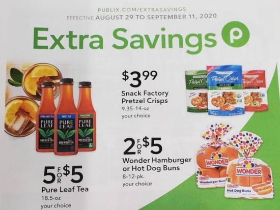 Publix Extra Savings Flyer, 8/29 to 9/11 on I Heart Publix