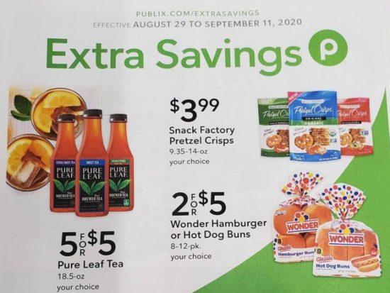 Publix Extra Savings Flyer, 8/29 to 9/11 on I Heart Publix
