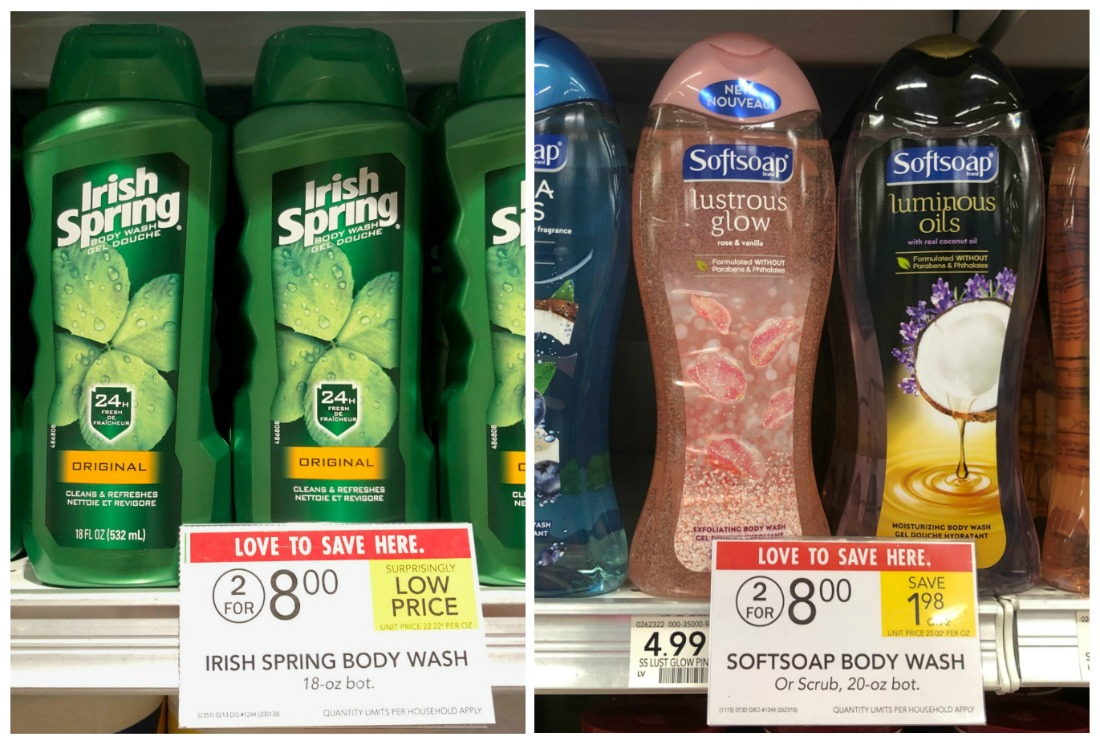 New Irish Spring & Softsoap Body Wash Coupons For Publix Sale - Just $2.25 (Less Than Half Price!) on I Heart Publix