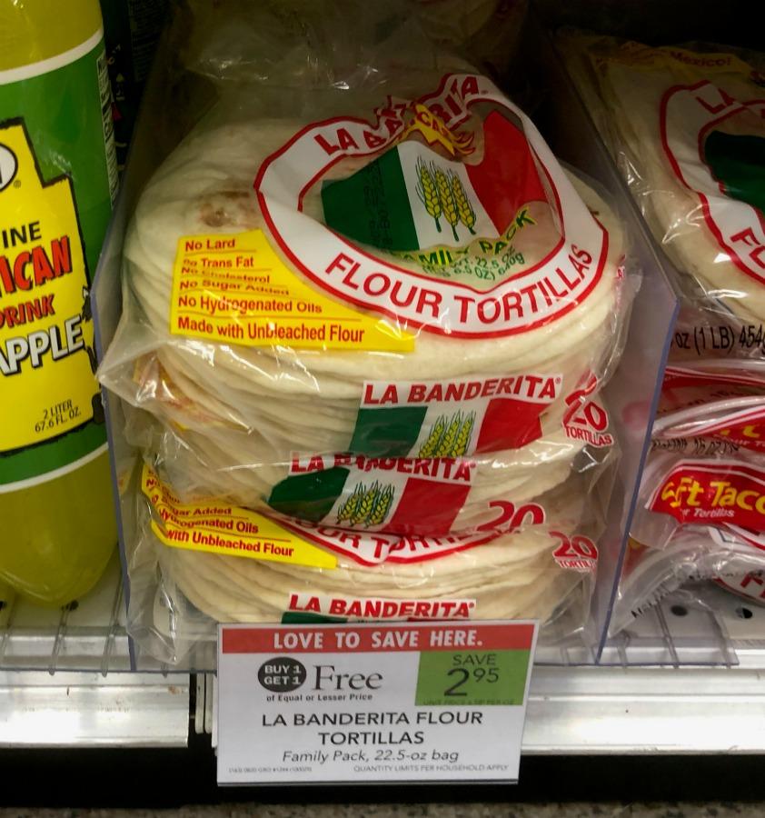 La Banderita Family Size Flour Tortillas Just 98¢ Per Pack At Publix on I Heart Publix