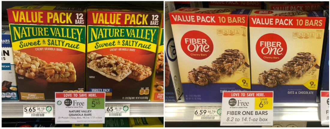Nature Valley & Fiber One Coupons - Value Size Boxes As Low As $2.33 At Publix on I Heart Publix