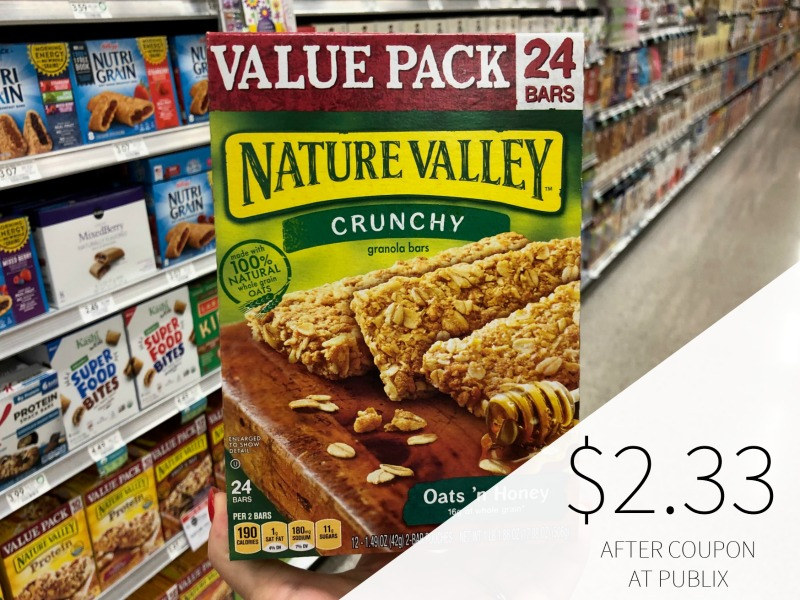 New Nature Valley & Fiber One Coupons - Value Size Boxes Just $2.50 At Publix on I Heart Publix