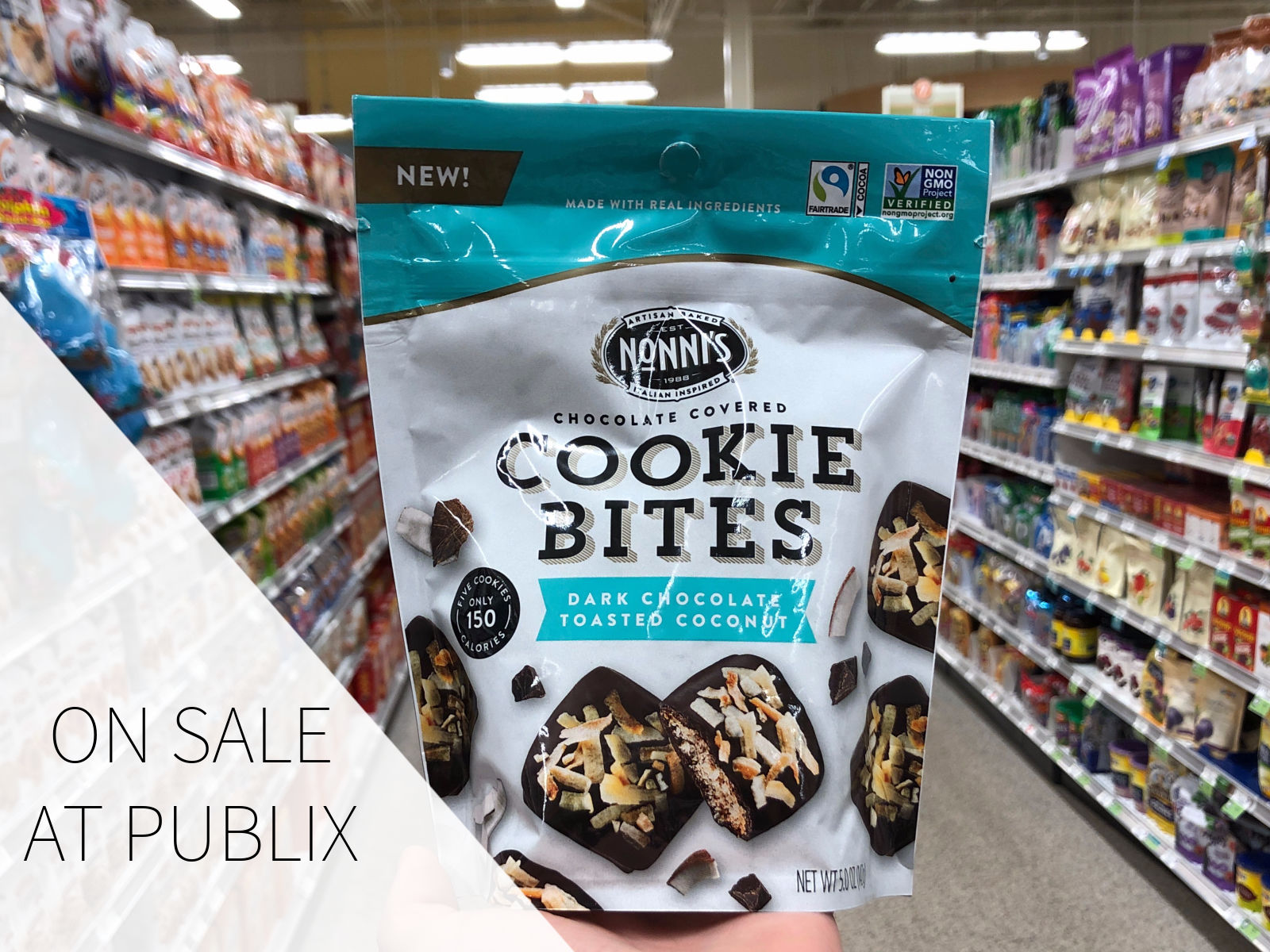 Try NEW Nonni's Chocolate Covered Cookie Bites - Save Now At Publix on I Heart Publix 1