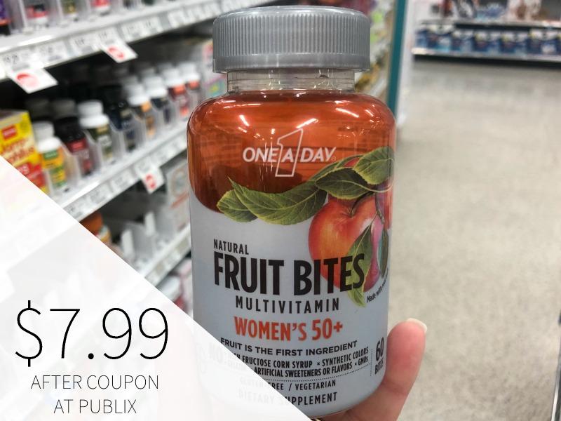 New One A Day Coupon For Publix Sale - Fruit Bites Just $7.99 (reg $12.99) on I Heart Publix 1
