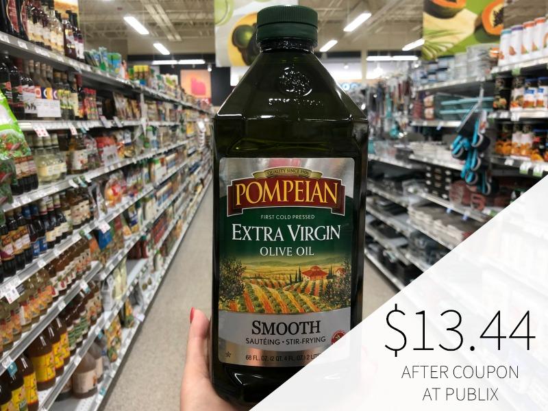 Pompeian Extra Virgin Olive Oil HUGE Bottle Just $13.44 (Save Over $12!) on I Heart Publix 1