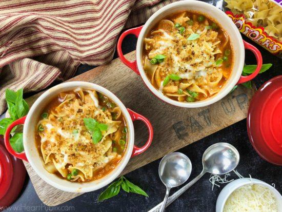 Chicken Parmesan Soup on I Heart Publix