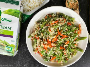 Chimichurri Cauliflower Rice Recipe - Tasty Side For The Sale On Green Giant Riced Veggies on I Heart Publix