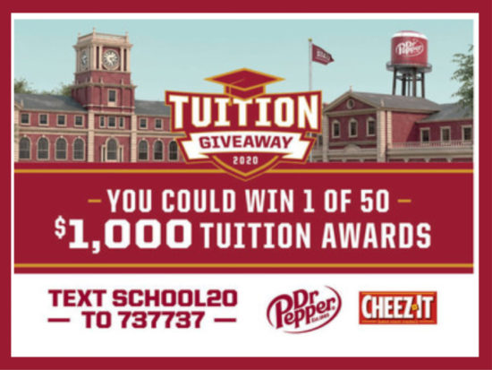 Dr. Pepper Tuition Sweepstakes - Text To Win A $1000 College Tuition Scholarship on I Heart Publix