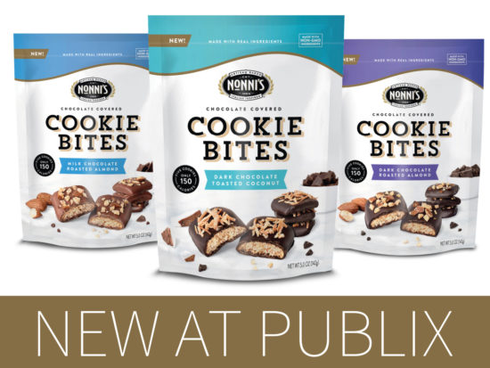 Look For Three Delicious Varieties of Nonni's Chocolate Covered Cookie Bites At Publix on I Heart Publix