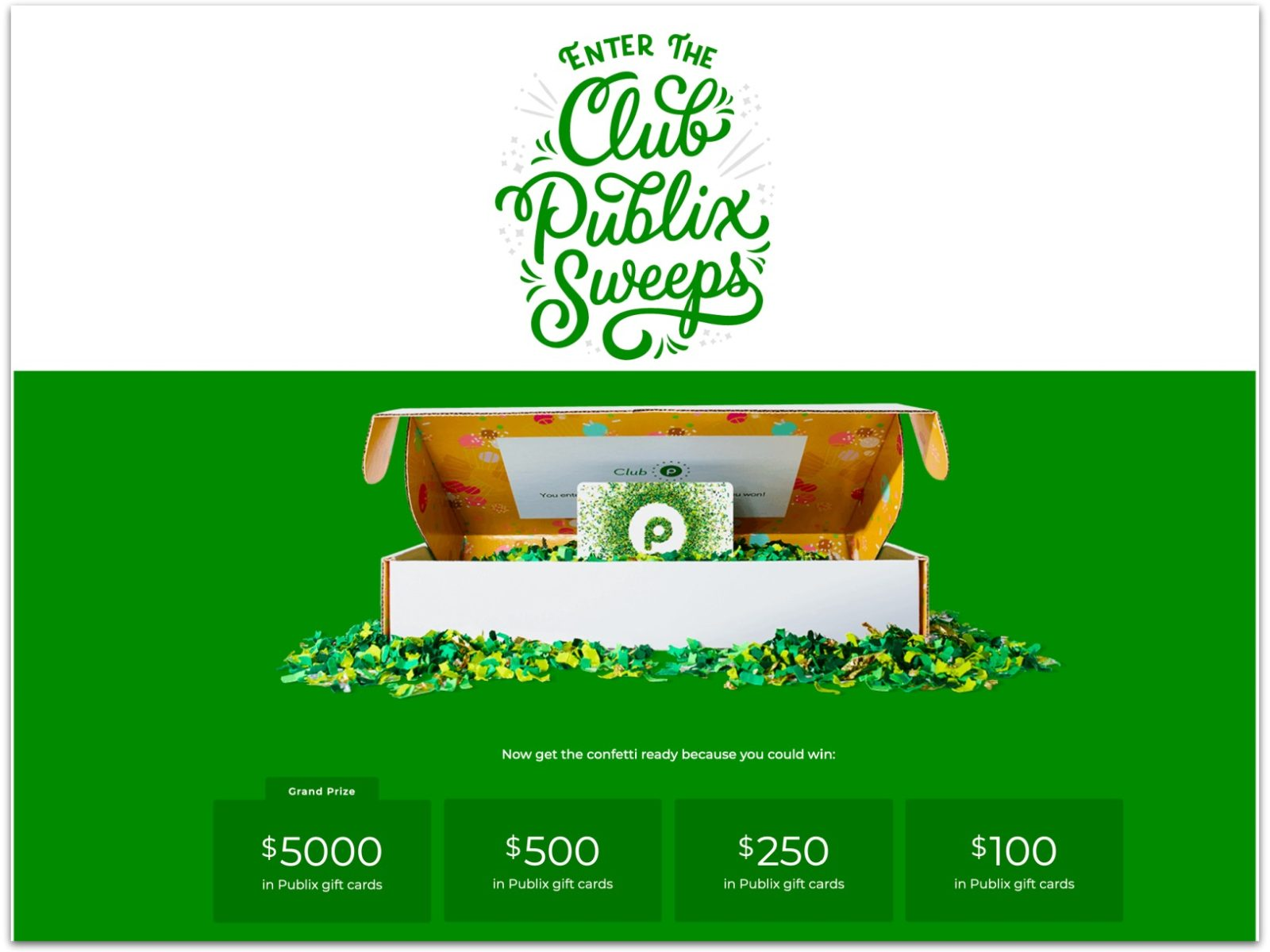 Win Big With The Club Publix Sweepstakes (Ends 10/7) on I Heart Publix