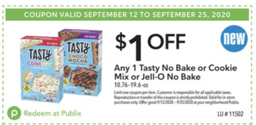 Save On The Delicious Tasty No Bake And Cookie Mix Kits At Publix on I Heart Publix