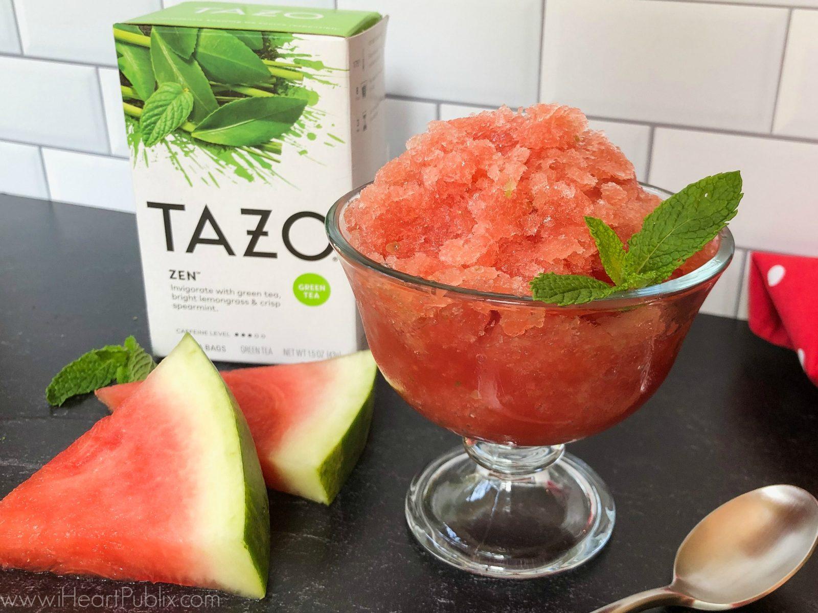 TAZO Zen Watermelon Granita - Perfect Recipe For The TAZO Tea Sale At Publix on I Heart Publix