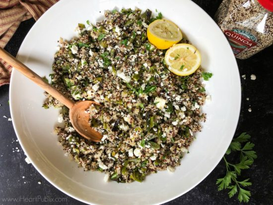 Tri-Color Quinoa with Grilled Vegetables and Feta - Get Savings On RiceSelect Quinoa At Publix on I Heart Publix 1