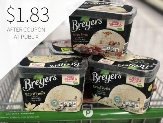 Breyers Ice Cream Just $2.33 Per Tub! on I Heart Publix