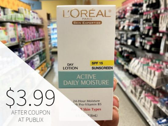 New L'Oreal Coupons - L'Oreal Paris Active Daily Moisture Only $3.99 At Publix on I Heart Publix 2