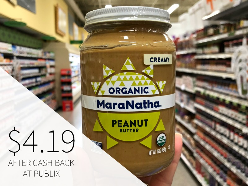 MaraNatha Organic Peanut Butter Just $4.19 (reg $7.69) on I Heart Publix