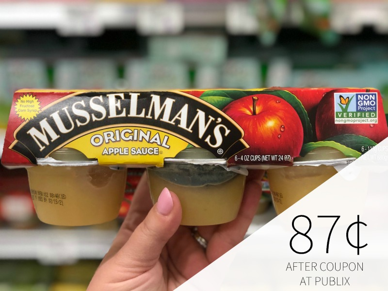Musselman's Apple Sauce Just 50¢ Per Pack At Publix on I Heart Publix