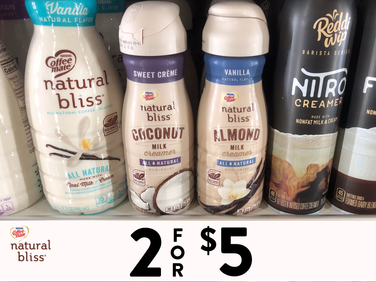 Look For natural bliss® Sweet Crème Coconut Milk & natural bliss® Vanilla Almond Milk On Sale At Publix on I Heart Publix