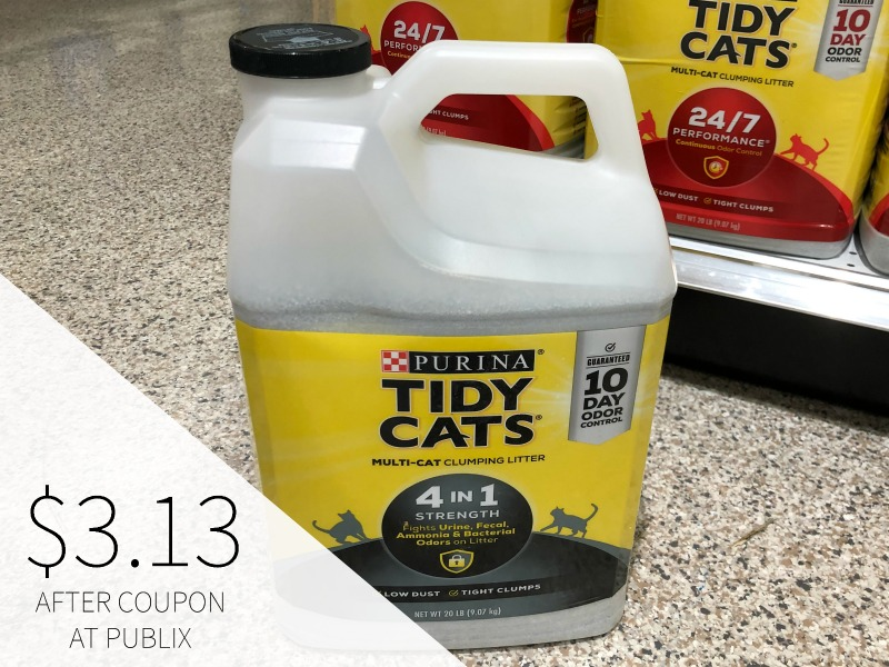 Purina Tidy Cats Clumping Litter Just $3.13 At Publix (Reg $9.25) on I Heart Publix