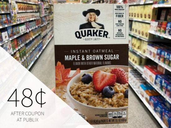 Quaker Instant Oatmeal Just 98¢ Per Box At Publix on I Heart Publix