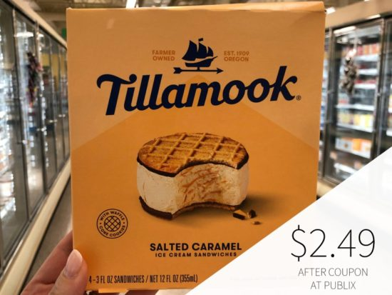 Tillamook Ice Cream Sandwiches 4 pk Just $2.49 on I Heart Publix 1