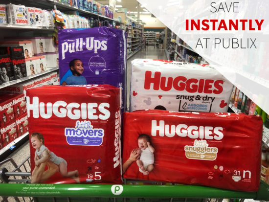 Get *INSTANT* Savings On Huggies Diapers & Pull-Ups This Week At Publix on I Heart Publix