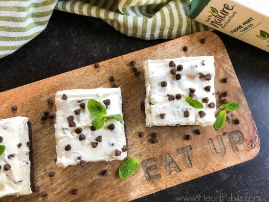 Try My Mint Chocolate Chip Cheesecake Squares & Get Savings On Back To Nature™ Snacks At Publix on I Heart Publix