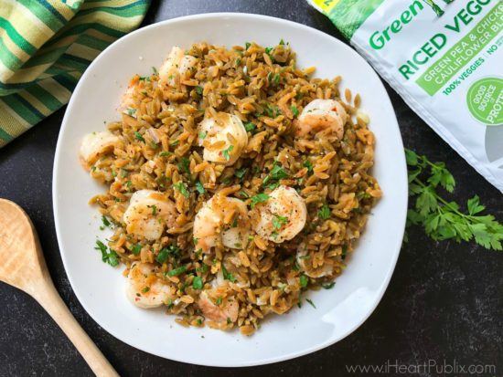 """Shrimp Riced Veggies """"Risotto"""" Recipe - Save Now On Green Giant Riced Veggies on I Heart Publix"""